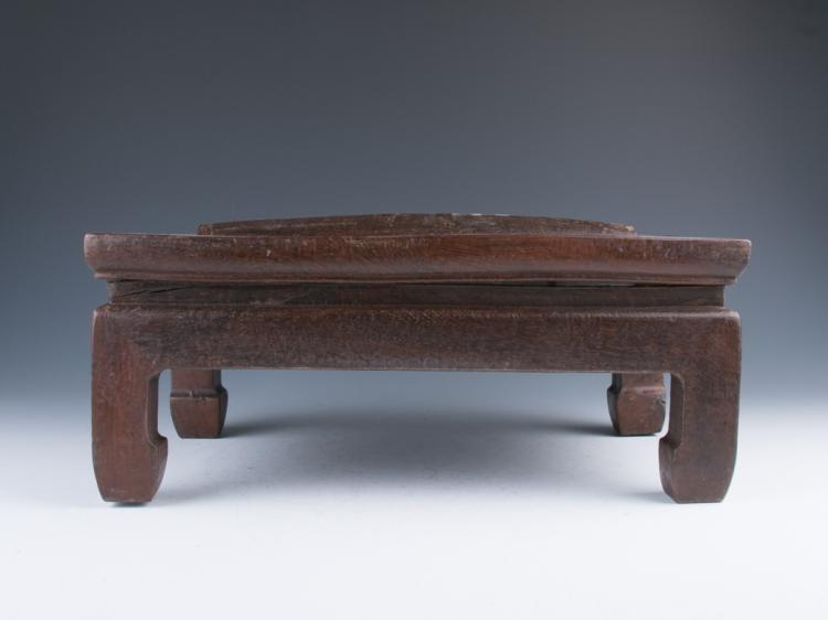 A Wood Roll Footstool