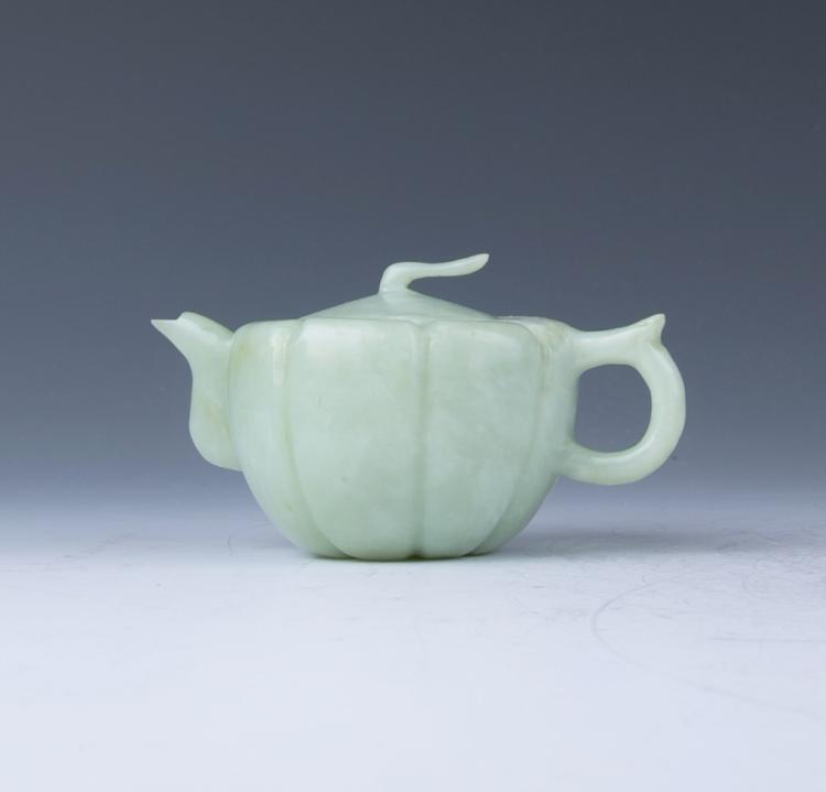A Jade Carved Teapot
