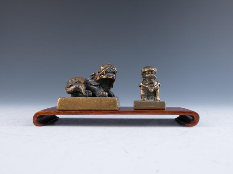 Two Bronze Seals