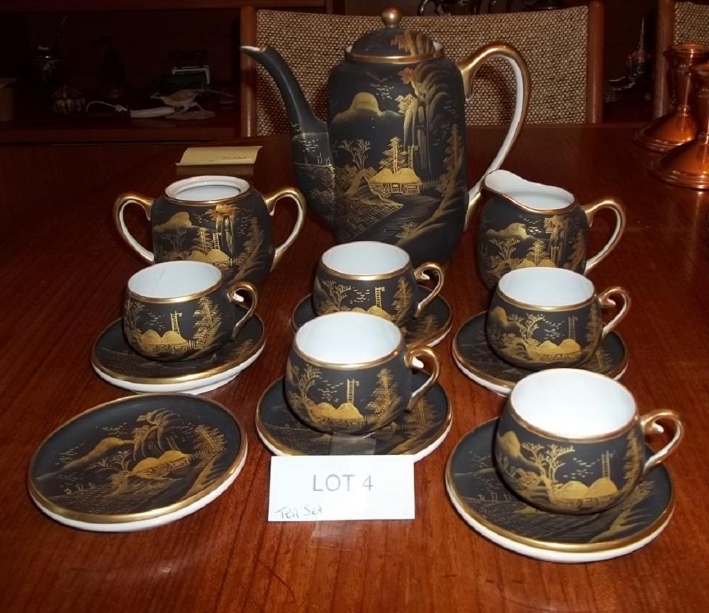 14 pc. Castle China Tea Set