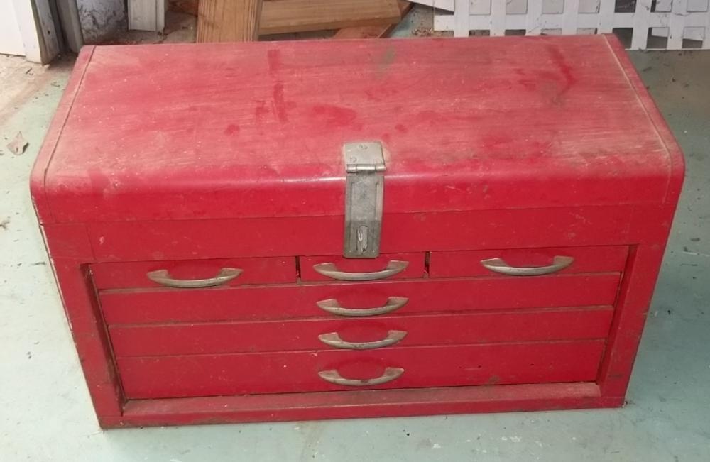 Large tool box full of tools