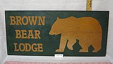 Brown Bear Lodge sign