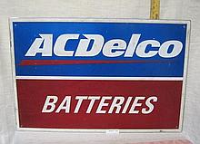 AC Delco Batteries sign