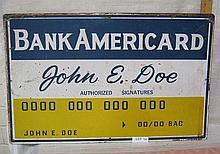 Bank Americard sign