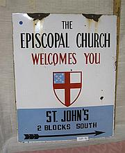 Porcelain Church sign