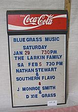 Coca-Cola Menu sign