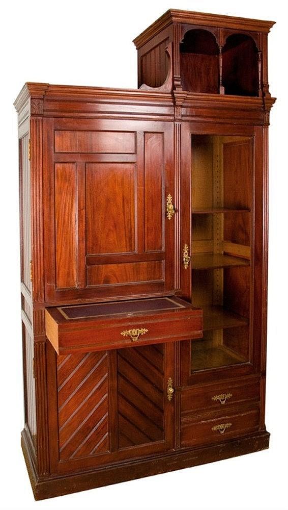 Mueble de biblioteca en madera de caoba francia - Muebles de caoba ...