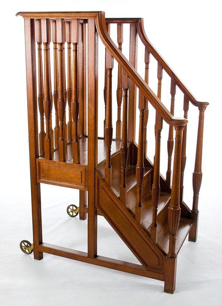 Escalera de biblioteca en madera de roble - Escalera de biblioteca ...