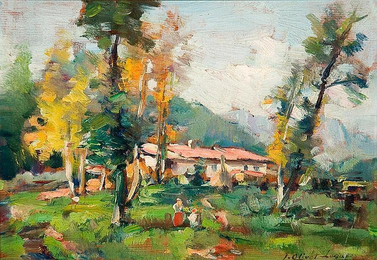 Josep Olivet Legares (Olot, 1885 - 1956) Óleo