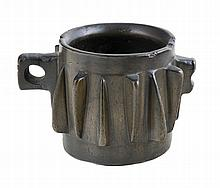 Lost-wax cast bronze mortar.  Gothic.  15th century.