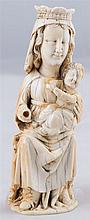 Virgin and Child. Ivory sculpture. Circa 1800.