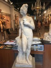 Bacchus.  Marble sculpture.  18th century Italian School.
