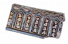 """Alicer"". Lustred tin-glazed earthenware. Persia.  14th century. 12,3 x 22,"