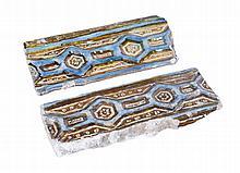 "Two ""Alicer"". Lustred tin-glazed earthenware. Persia.  14th century.  10 x"