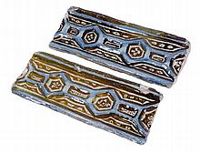 "Two ""Alicer"". Lustred tin-glazed earthenware. Persia.  14th century. 10 x 2"