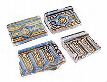 """Four """"Alicer"""". Lustred tin-glazed earthenware. Persia.  14th century. 11,8"""
