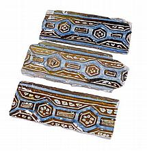 "Three ""Alicer"". Lustred tin-glazed earthenware. Persia.  14th century. 8,8"