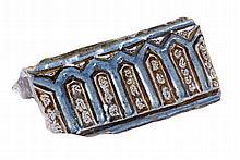 """Alicer"". Lustred tin-glazed earthenware. Persia.  14th century.  11,8 x 24"
