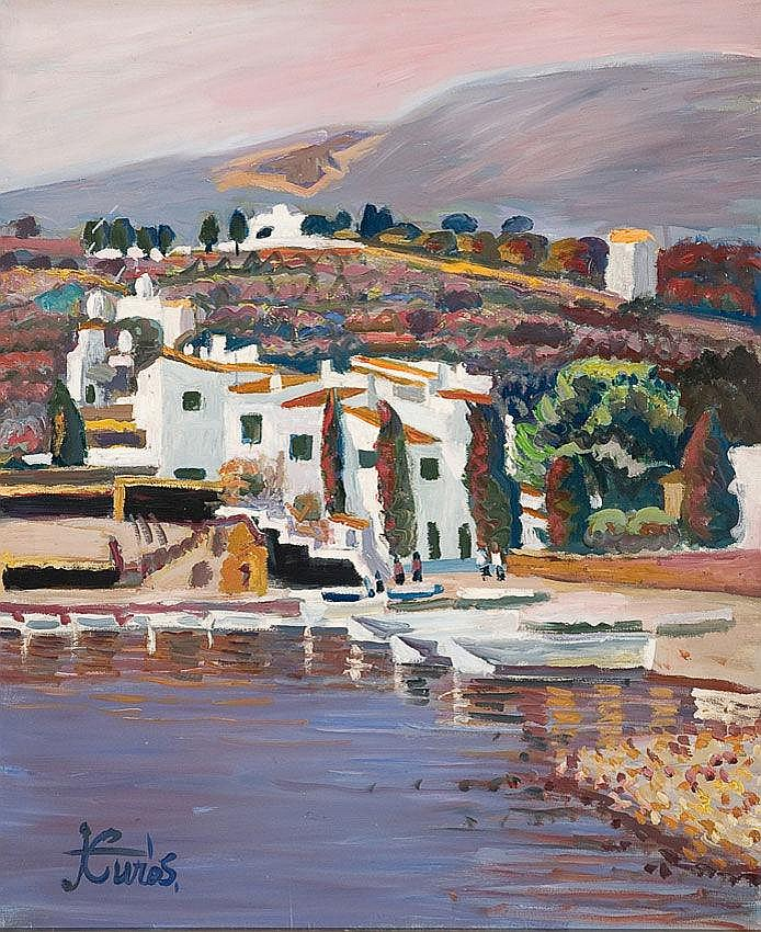 Jordi Curós (Olot, 1930) Óleo sobre tela. Firmado.