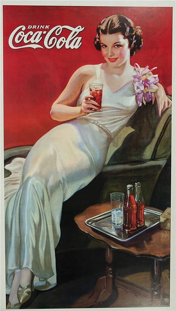 Advertising poster for Coca Cola.