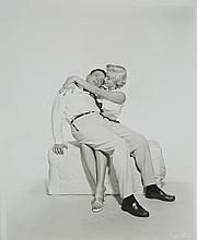 Black and White photo and original colour print of  Marilyn Monroe and Tom Ewell, taken by Frank Powolny.