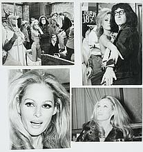 Lot of 4 original black and white photographs of Ursula Andress.