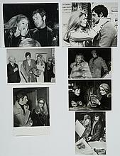 Lot of 7 original black and white photographs of Jean-Paul Belmondo.