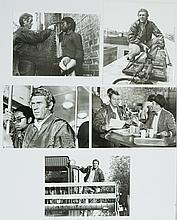 Lot of 5 original black and white photographs of Steve Mcqueen.