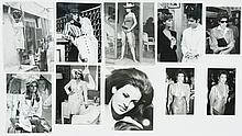 Lot of 10 original black and white photographs of Rachel Welch.
