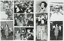 Lot of 7 original black and white photographs of Sofia Loren.
