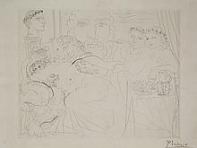"Pablo Ruiz Picasso (Malaga, 1881 - Mougins, 1973)<br>""Minotaure caressant une femme"