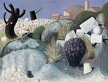 "Josep Roca Sastre (Terrassa, 1928 - Barcelona, 1997)<br>""Surrealist landscape"""