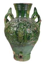Enamelled ceramic pitcher.  Catalonia.  18th century.