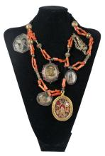 Magnificent decorative necklace from a