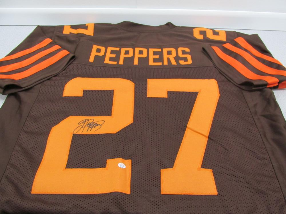 premium selection fee1c 7caf2 Jabrill Peppers of the Cleveland Browns signed autographed ...