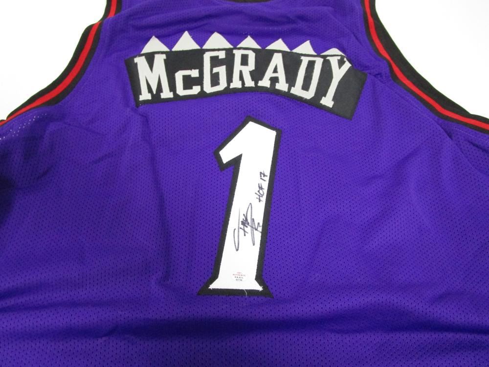 meet 5afcc 9195c Tracy McGrady of the Toronto Raptors signed autographed ...