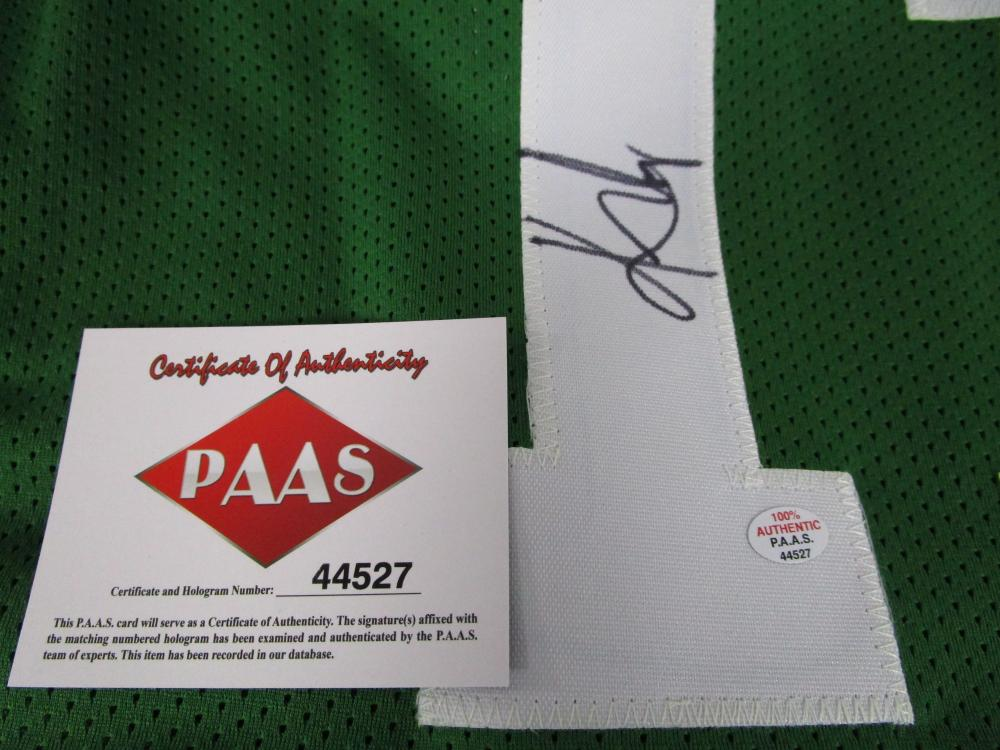 promo code 3eadf 66456 Kyrie Irving of the Boston Celtics signed autographed green ...