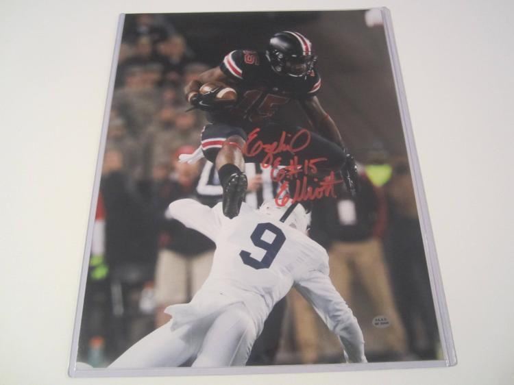 07e67a6c40e Lot 1198: Ezekiel Elliott Ohio State Buckeyes hand signed autographed 11x14  PAAS COA