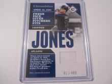 2017 Panini Chronicles Chipper Jones Game Used Jersey #17/499 Braves