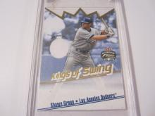 2002 Fleer Focus Shawn Green Game Used Jersey Dodgers