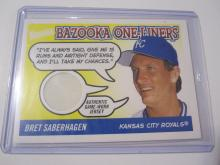 2004 Topps Bazooka One-Liners Bret Saberhagen Game Used Jersey Royals