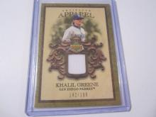 2007 Upper Deck Artifacts Apparel Khalil Greene Game Used Jersey #142/199 Padres