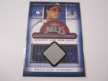 2005 Fleer Classic Clippings Marcus Giles Game Used Jersey #33/72 Braves