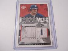 2002 Upper Deck Starring Role Jason Giambi Game Used Jersey Yankees