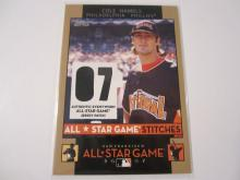 2007 Topps All-Star Stitches Cole Hamels Authentic Event-Worn All-Star Game Jersey Phillies
