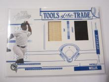 2005 Donruss Playoff Absolute Memorabilia Dontrelle Willis Game Used Bat and Game Used Jersey #2/150 Marlins
