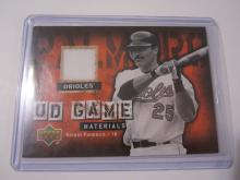2006 Upper Deck Game Materials Rafael Palmeiro Game Used Jersey Orioles