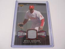 2006 Upper Deck Ovation Apparel Ryan Howard Game Used Jersey Phillies