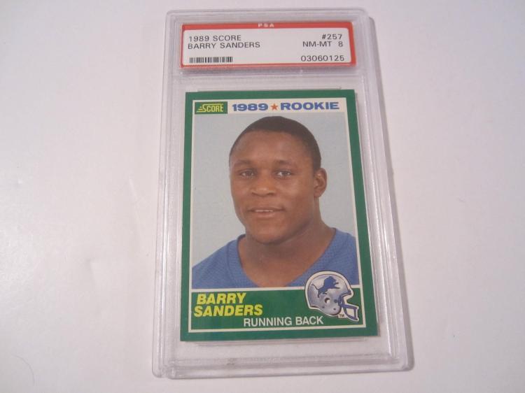 1989 Score Barry Sanders 257 Rookie Lions Hof Psa Graded Card