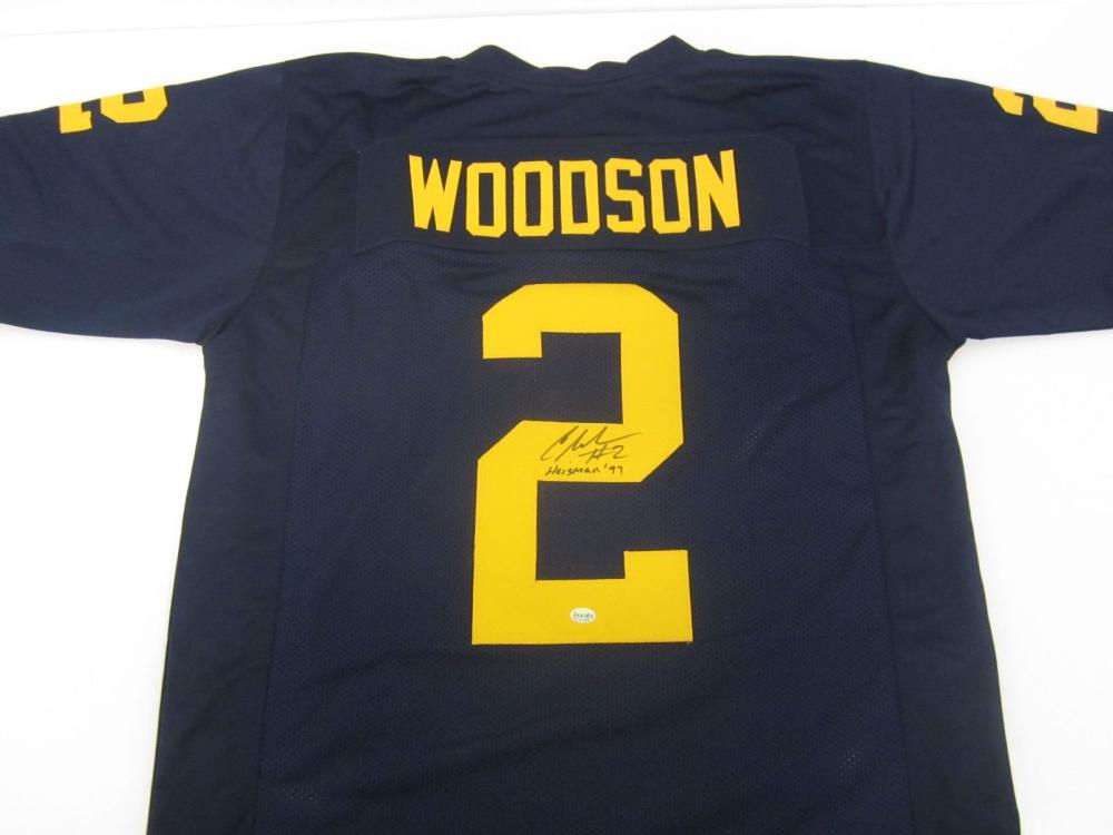 newest 8f23c d0e8c Charles Woodson Michigan Hand Signed Autographed Jersey ...